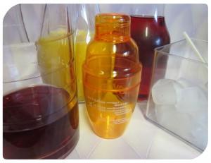 alcoholvrije cocktail, cranberrysap, sinaasappelsap, grenadine