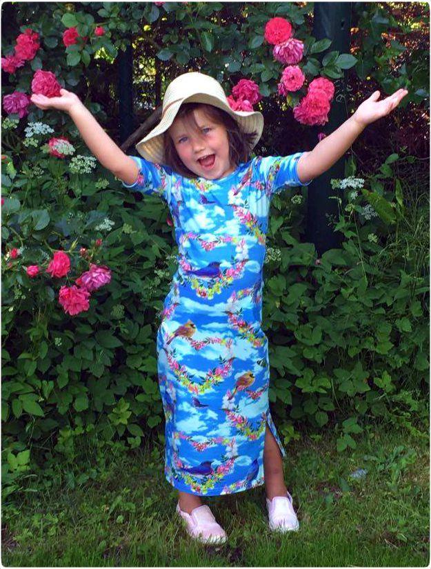maxi dress, ninie kinderkleding, made in holland