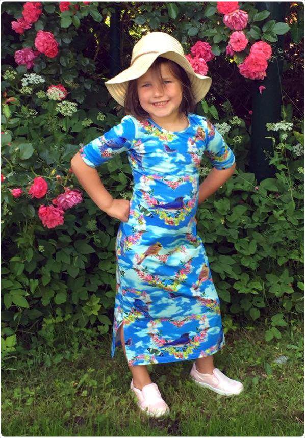 ninie kinderkleding, made in holland, maxi dress