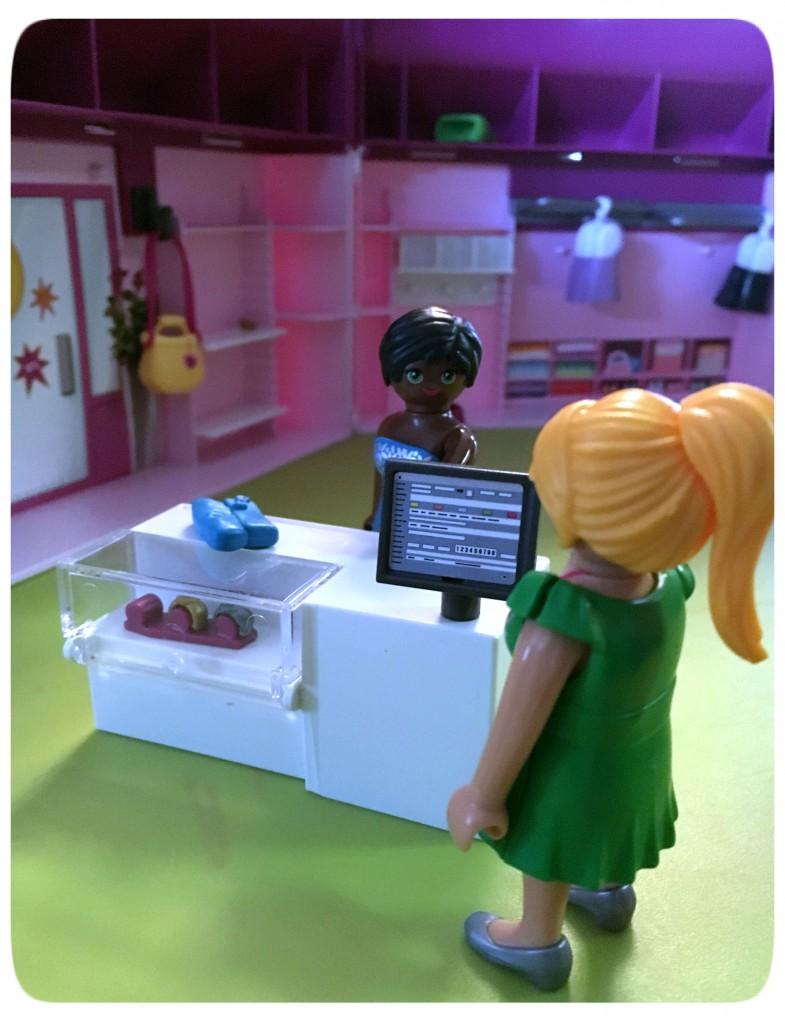 playmobil , fashion shop