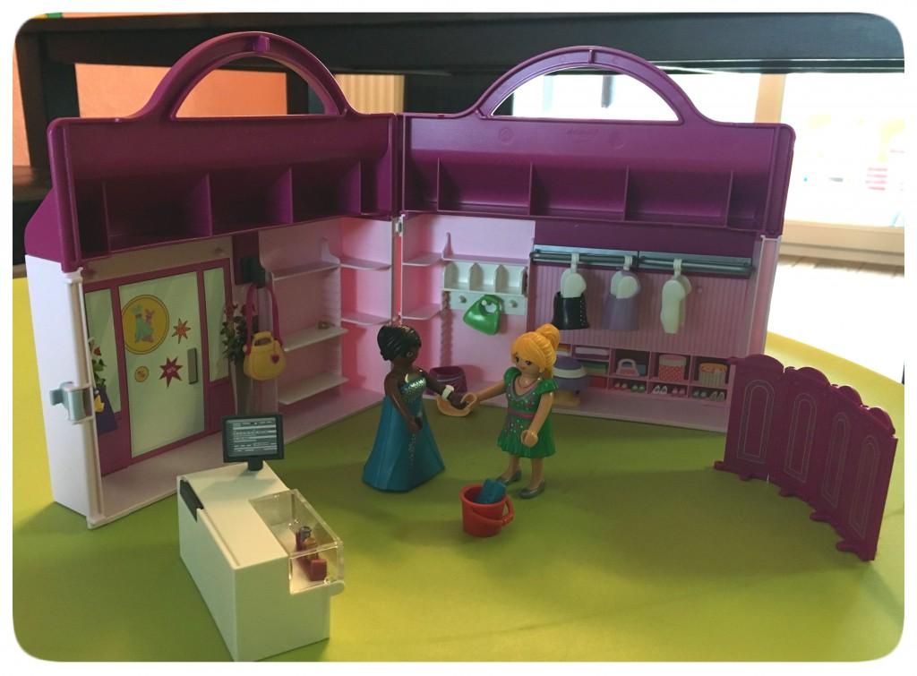 playmobil, meeneem, fashion shop