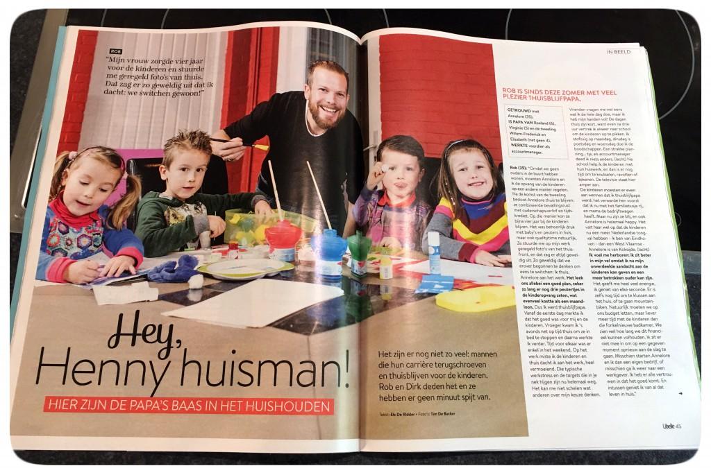 libelle belgië, thuisblijfpapa, interview