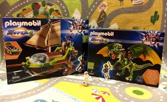 playmobil, super4 , koningsland draak, galjoen