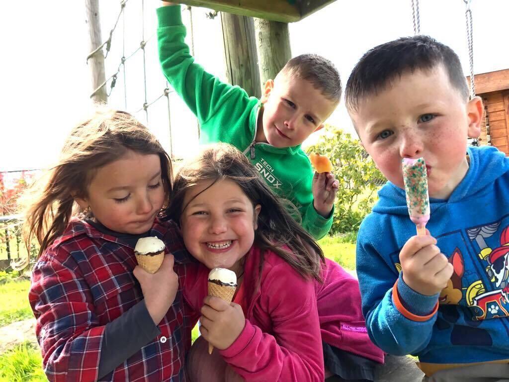 kinderen, ijsjes