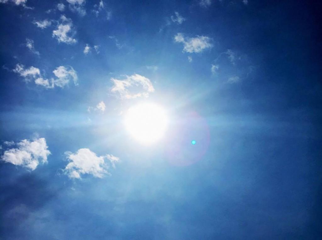 zomer, zon, sky