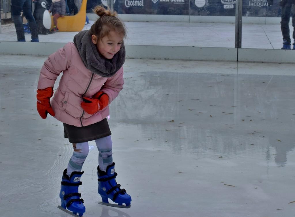 De kinderen daarentegen.. die schaatsten alsof ze dit wekelijks deden!